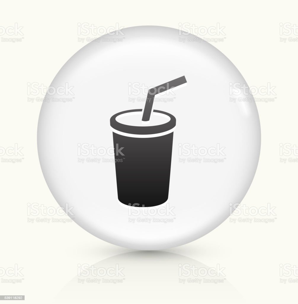 Soda icon on white round vector button vector art illustration