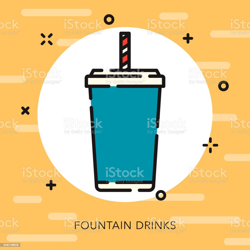 Soda Open Outline Fast Food Icon