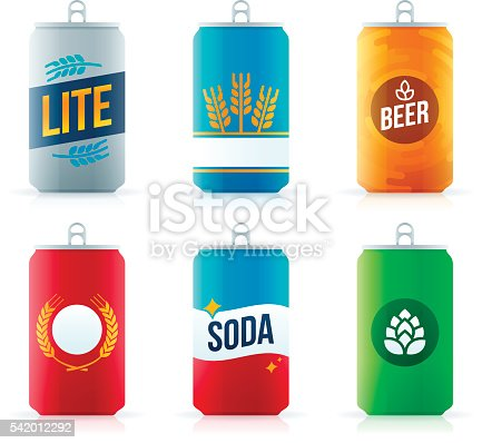 istock Soda or Beer Aluminum Cans 542012292