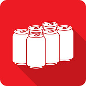 istock Soda Six Pack Icon Silhouette 1211061610