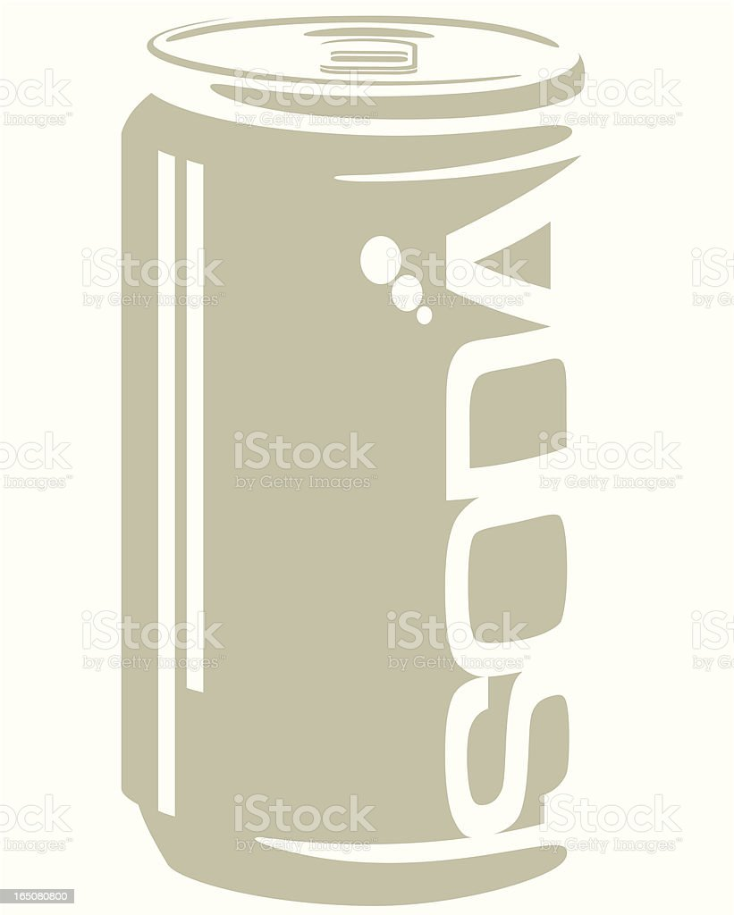 Soda soft drink can royalty-free stock vector art