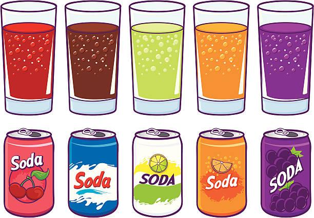 ilustraciones, imágenes clip art, dibujos animados e iconos de stock de gaseosa - bebida gaseosa