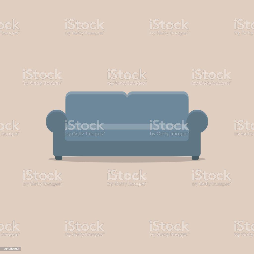 Sofa Flat Design - Royalty-free Decoration stock vector