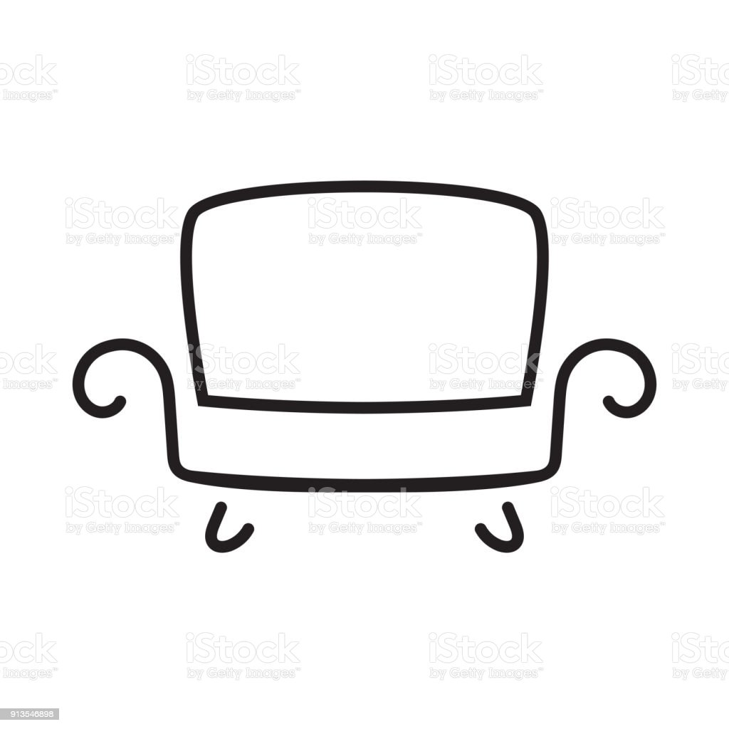 Sofa Icon Royalty Free Stock Vector Art Amp More Images Of Black