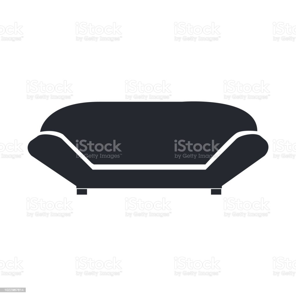 Sofa Icon Vector Sign And Symbol Isolated On White Background Sofa