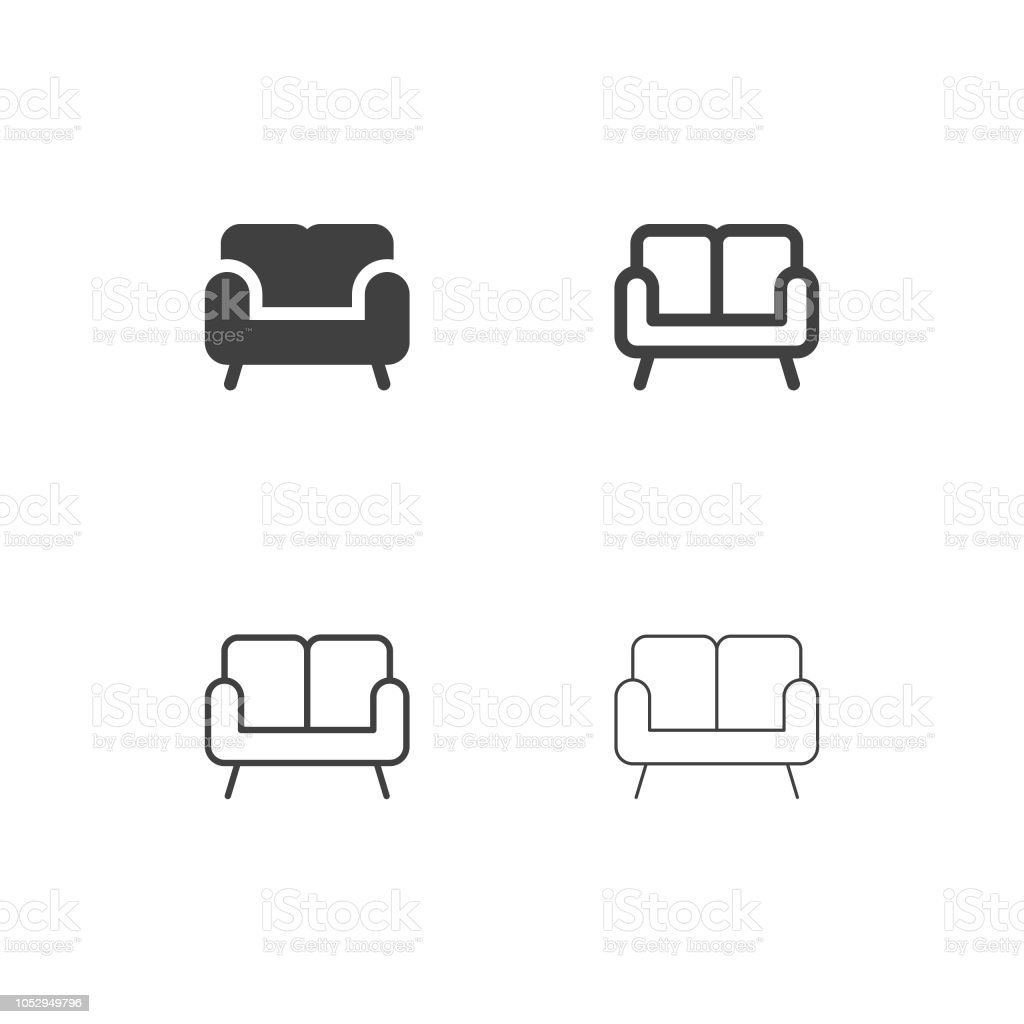 Sofa Icons - Multi-serie - Royalty-free Armstoel vectorkunst