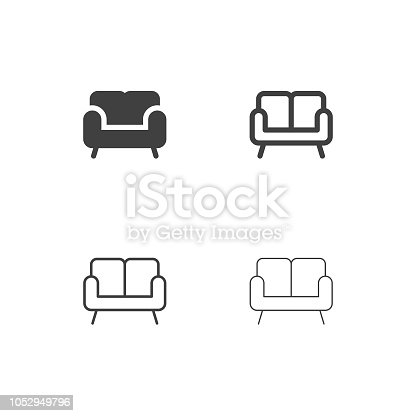 Sofa Icons Multi Series Vector EPS File.