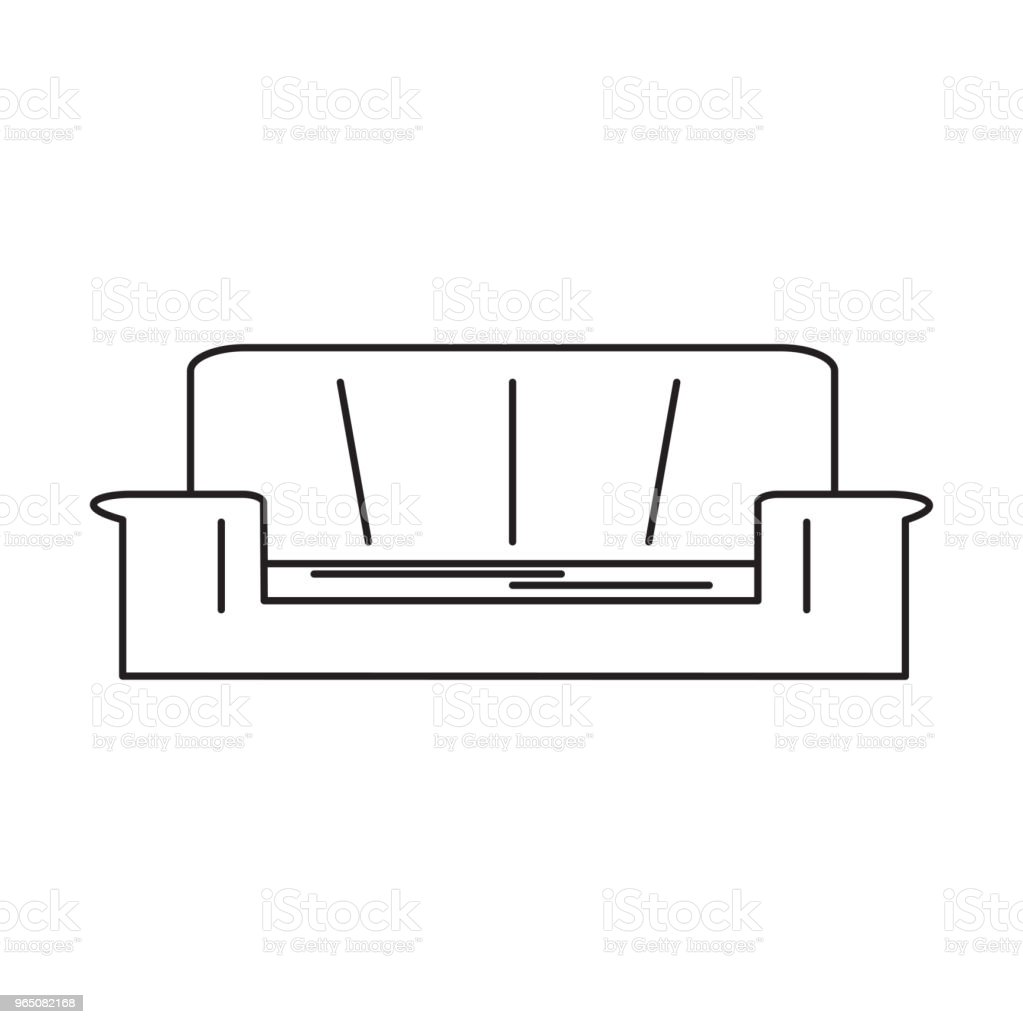 sofa line icon royalty-free sofa line icon stock vector art & more images of armchair