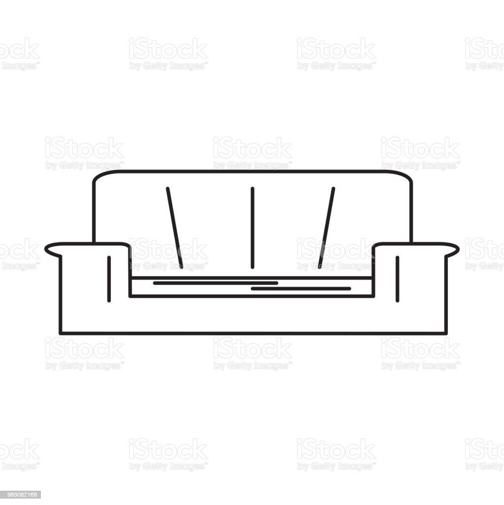 sofa line icon sofa line icon - stockowe grafiki wektorowe i więcej obrazów azerbejdżan royalty-free