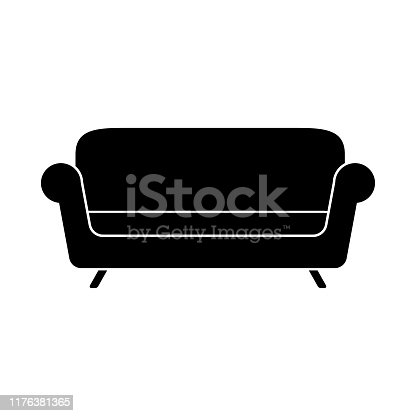 sofa simple icon on white background vector illustration