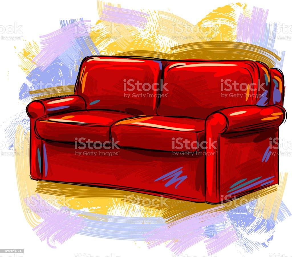 Sofa royalty-free stock vector art