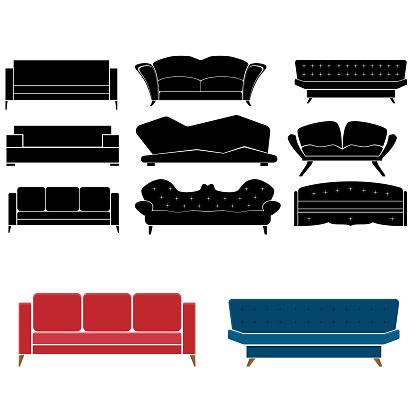 Sofas furniture set decorations