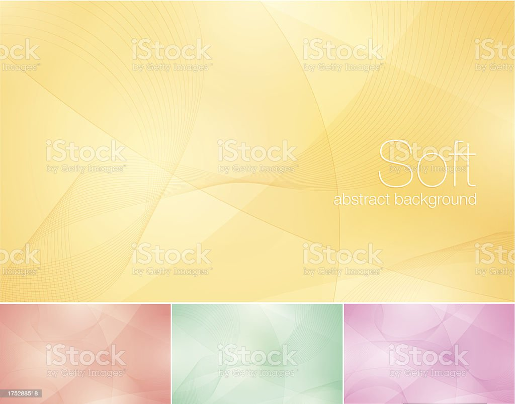Soft Abstract Background vector art illustration