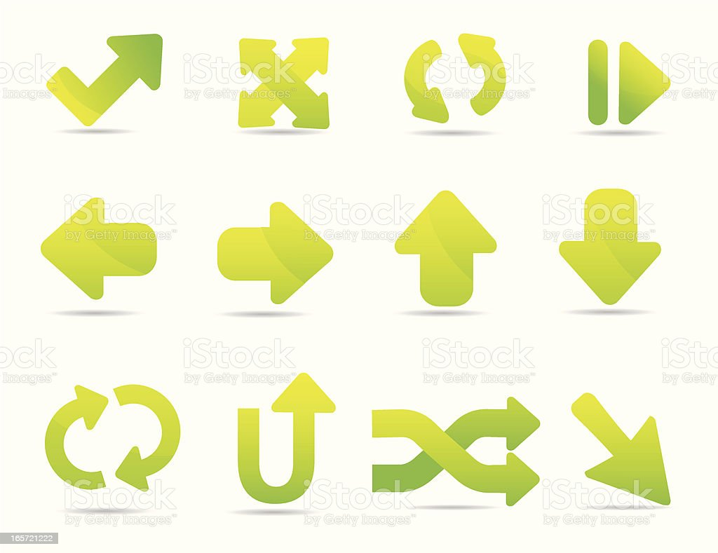 Soft Arrow Icons royalty-free soft arrow icons stock vector art & more images of acute angle