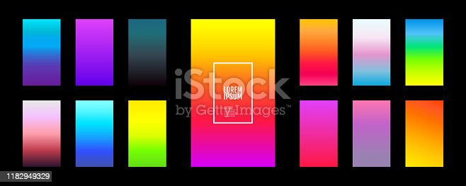 Soft background color on dark. Modern design vector screen for mobile applications. Soft color abstract gradients. Vector illustration