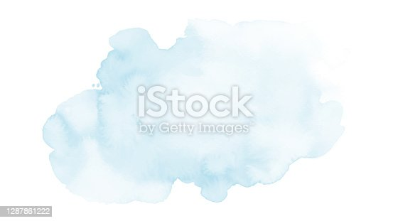 istock Soft blue and harmony background of stain splash watercolor 1287861222