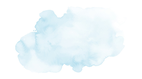 Soft blue and harmony background of stain splash watercolor hand-painted. Abstract artistic used as being an element in the decorative design of invitation, cards, or wall art.