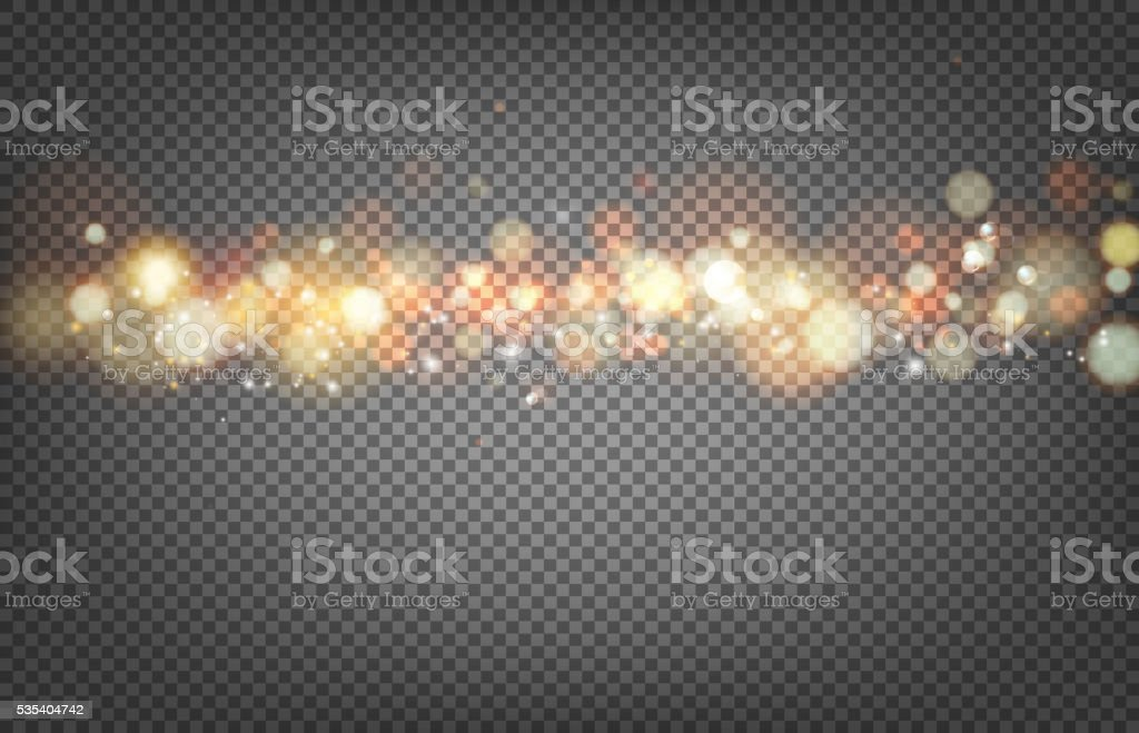 Soft bokeh and lights. vector art illustration