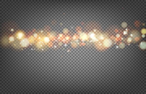 bokeh e luzes suaves. - ilustração de arte em vetor