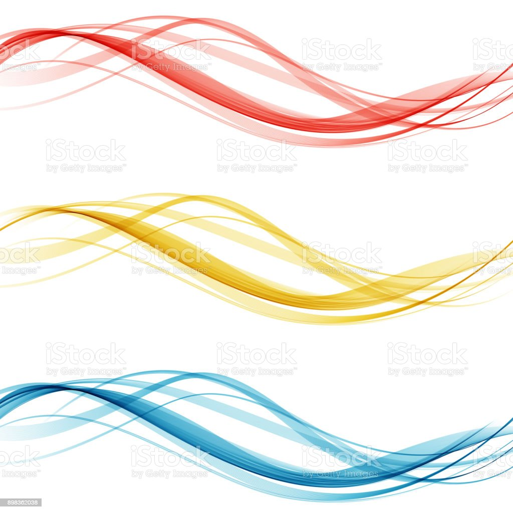 Soft bright colorful web border layout set of beautiful modern swoosh wave header collection. Vector illustration