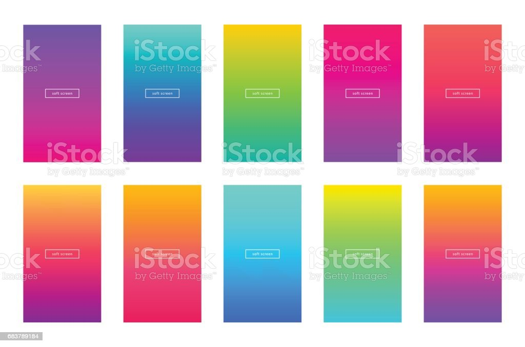 Soft color app background vector design. Modern gradient.