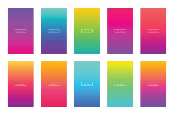 soft color app background vector design. modern gradient. - abstract calendar stock illustrations, clip art, cartoons, & icons