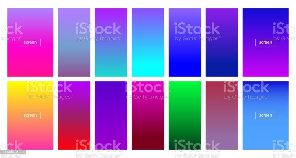 Soft color background - Modern screen vector design for mobile app -...