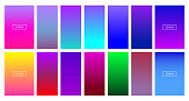 Soft color background - Modern screen vector design for mobile app - Soft color gradients - Vector EPS 10
