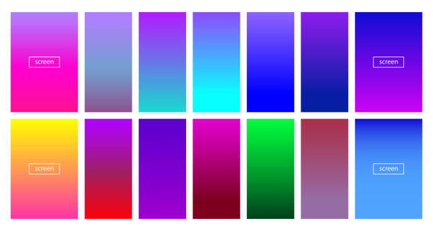 Soft color background - Modern screen vector design for mobile app - Soft color gradients Soft color background - Modern screen vector design for mobile app - Soft color gradients - Vector EPS 10 hill stock illustrations