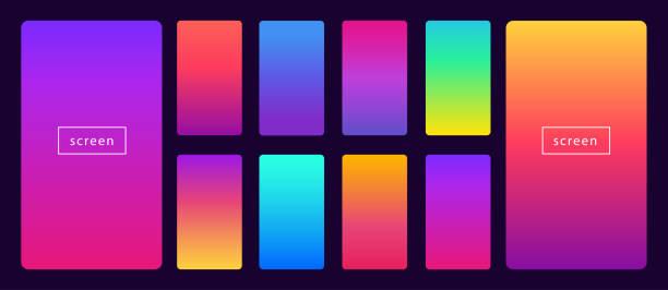 ilustrações de stock, clip art, desenhos animados e ícones de soft color background on dark background. - gradient