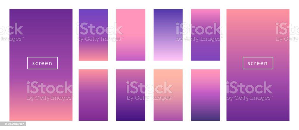 8a8ca912db2 Soft Color Background Set Blueberry Violet Purple Mobile App Screens ...