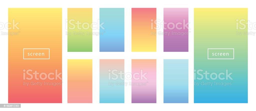 Fundo de cor suave. Gradientes de pastel de cor suave. - ilustração de arte em vetor