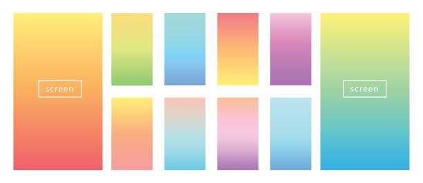ilustrações, clipart, desenhos animados e ícones de fundo de cor suave. gradientes de pastel de cor suave. - planos de fundo coloridos