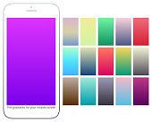 Soft color gradient backgrounds set. Modern screens for mobile app. Abstract colorful vector gradients for greeting card, brochure, flyer, invitation card, poster, banner, calendar or other design.