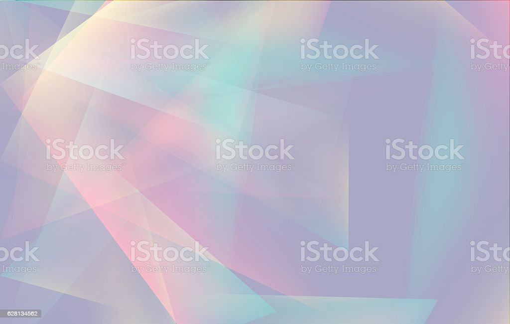 Soft colored abstract lowpoly background with copy-space vector art illustration