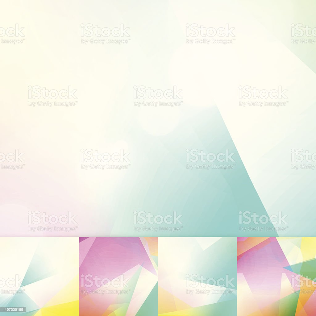 Soft Colors Geometric Graphic Art Layout Template Abstract Vector Background royalty-free stock vector art