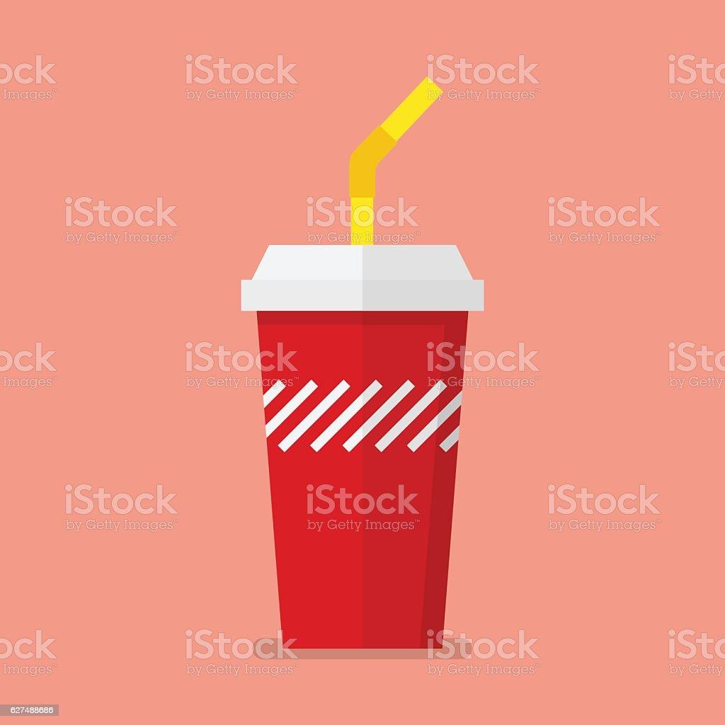 Soft drink in flat style - illustrazione arte vettoriale