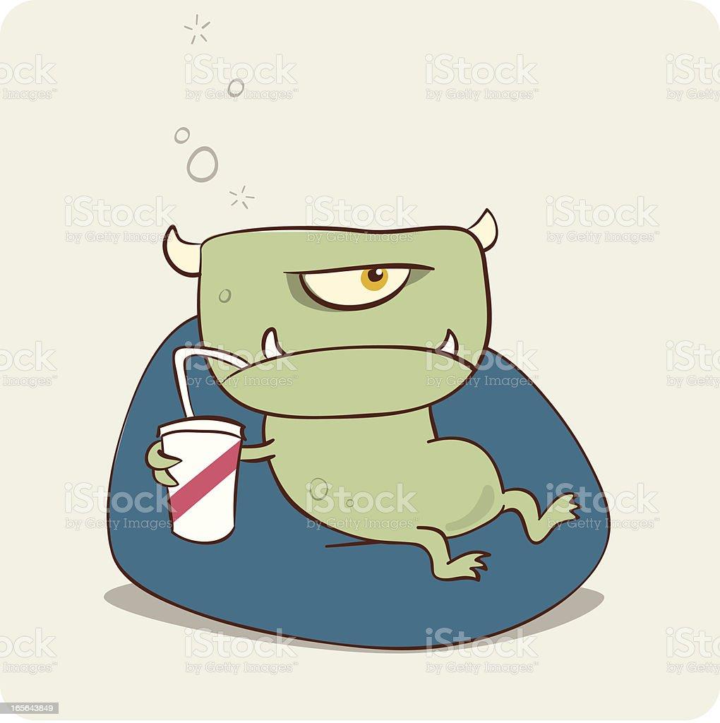 Soft Drink Monster vector art illustration