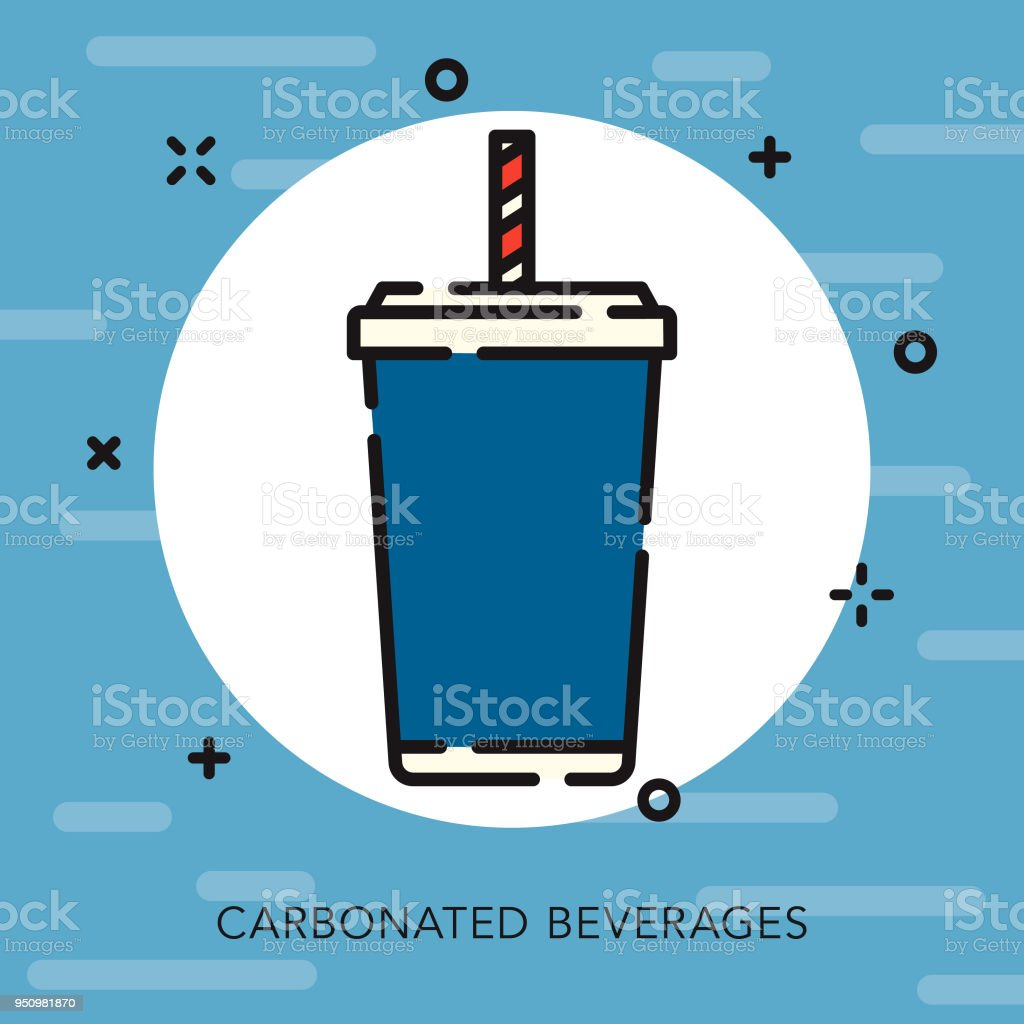 Soft Drink Open Outline USA Icon
