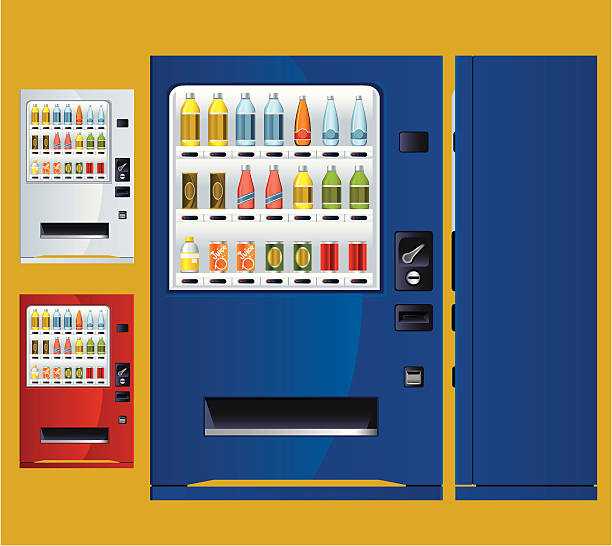 soft drink vending machine - empty vending machine stock illustrations