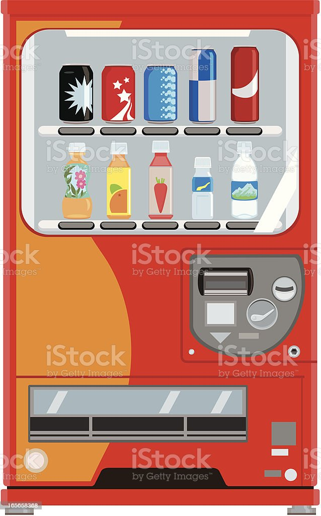 Soft Drinks Vending Machine royalty-free stock vector art