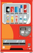 A vending machine provides soft drinks products to consumers without a cashier.