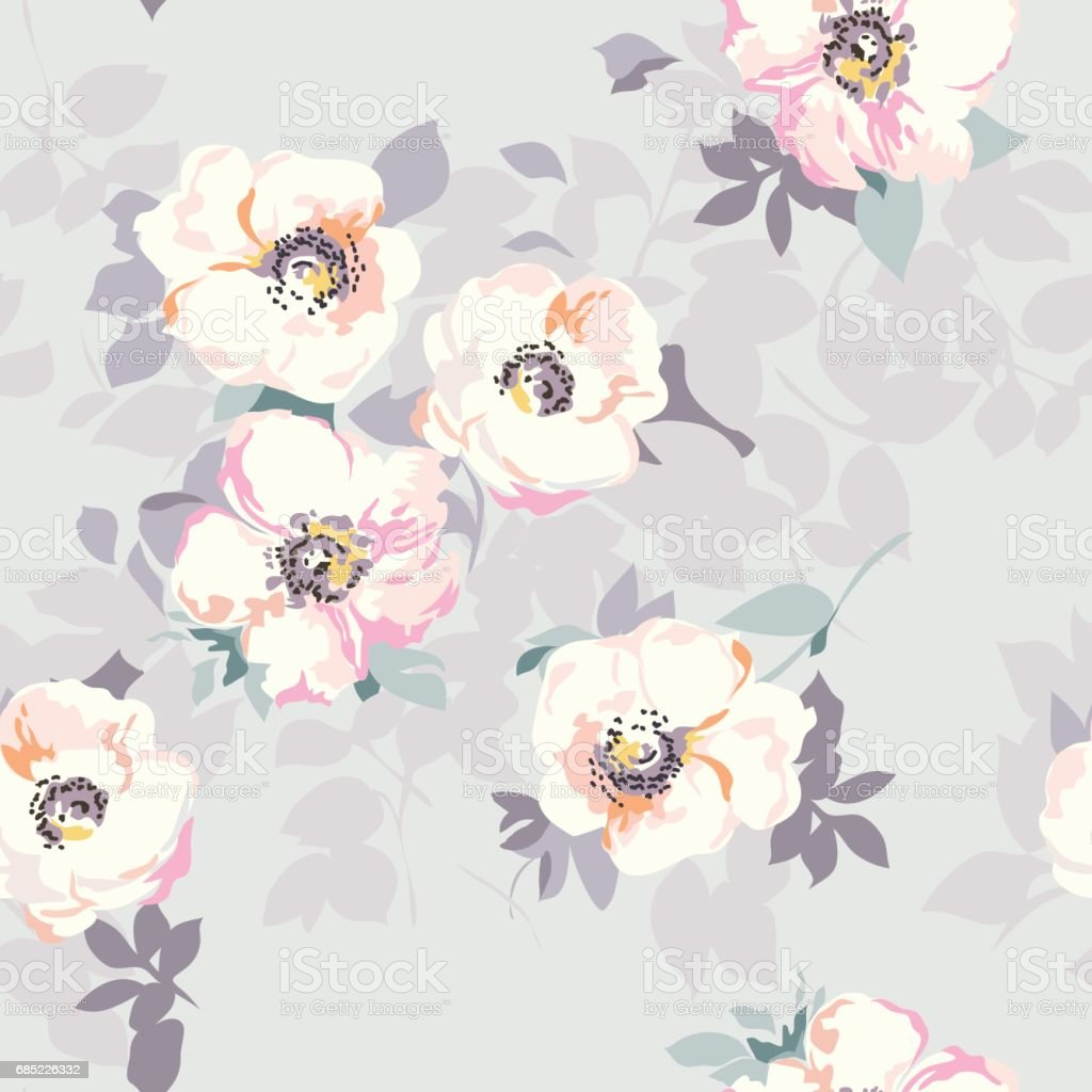 soft flower print - seamless background soft flower print seamless background - arte vetorial de stock e mais imagens de arte, cultura e espetáculo royalty-free