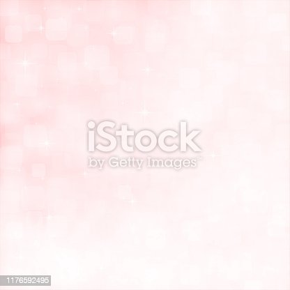 Soft pastel pink and white colour shining glittery horizontal background stock photo. Looks like twinkling lights light shiny sky background. Vignette, vignetting, copy space. No people. No text. Apt for party, Xmas, Christmas, New Year's eve, New Year, birthday party celebration backdrop, wallpaper,  romantic gift wrapping paper, greeting cards. There are subtle light coloured rounded corners squares of different sizes and overlapping making it blingy and shimmery. Divine, spiritual background. Sparkles here band there all over.