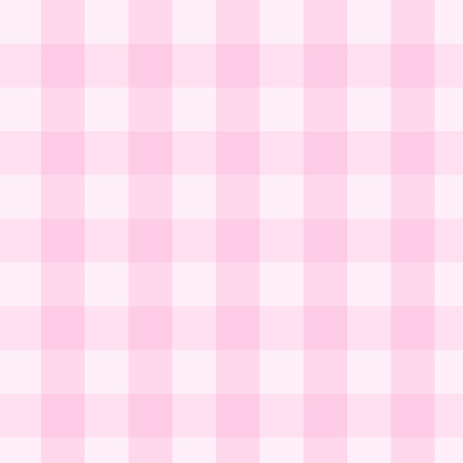 Soft pink gingham seamless pattern vector background include swatches