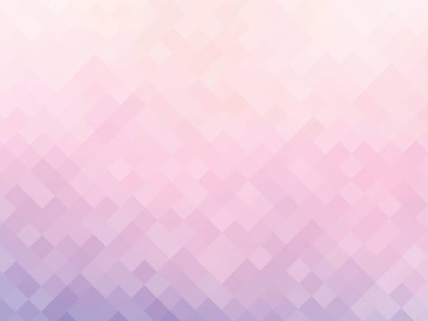 soft pink squares mosaic background vector art illustration