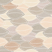 Soft seamless pattern of leaves. Doodle style. Background for textile or book covers, wallpapers, design, graphic art, printing, hobby, invitation.