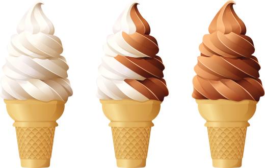 Soft Serve Ice Cream Cones