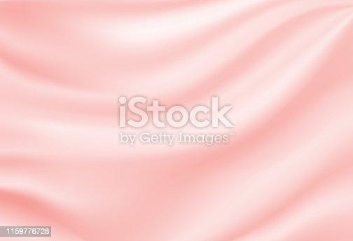 istock Soft silk satin pink background. Vector illustration. 1159776728