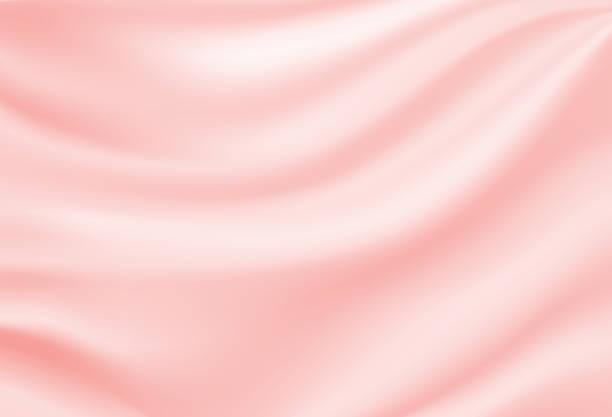 stockillustraties, clipart, cartoons en iconen met zachte zijden satijnen roze achtergrond. vector illustratie. - zijde